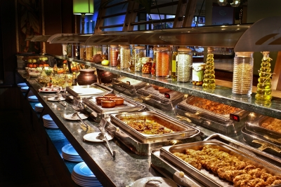 Abundance in a Turkish buffet restaurant